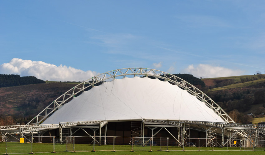 Llangollen Royal International Pavilion by Armadillo Engineering